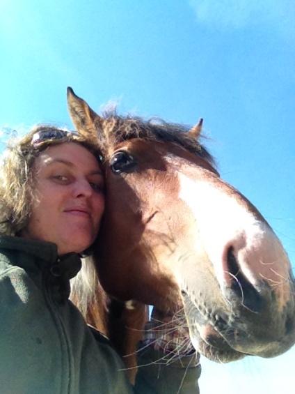 Curly Horse Selfie
